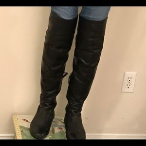 COPY - Thigh high leather boots.